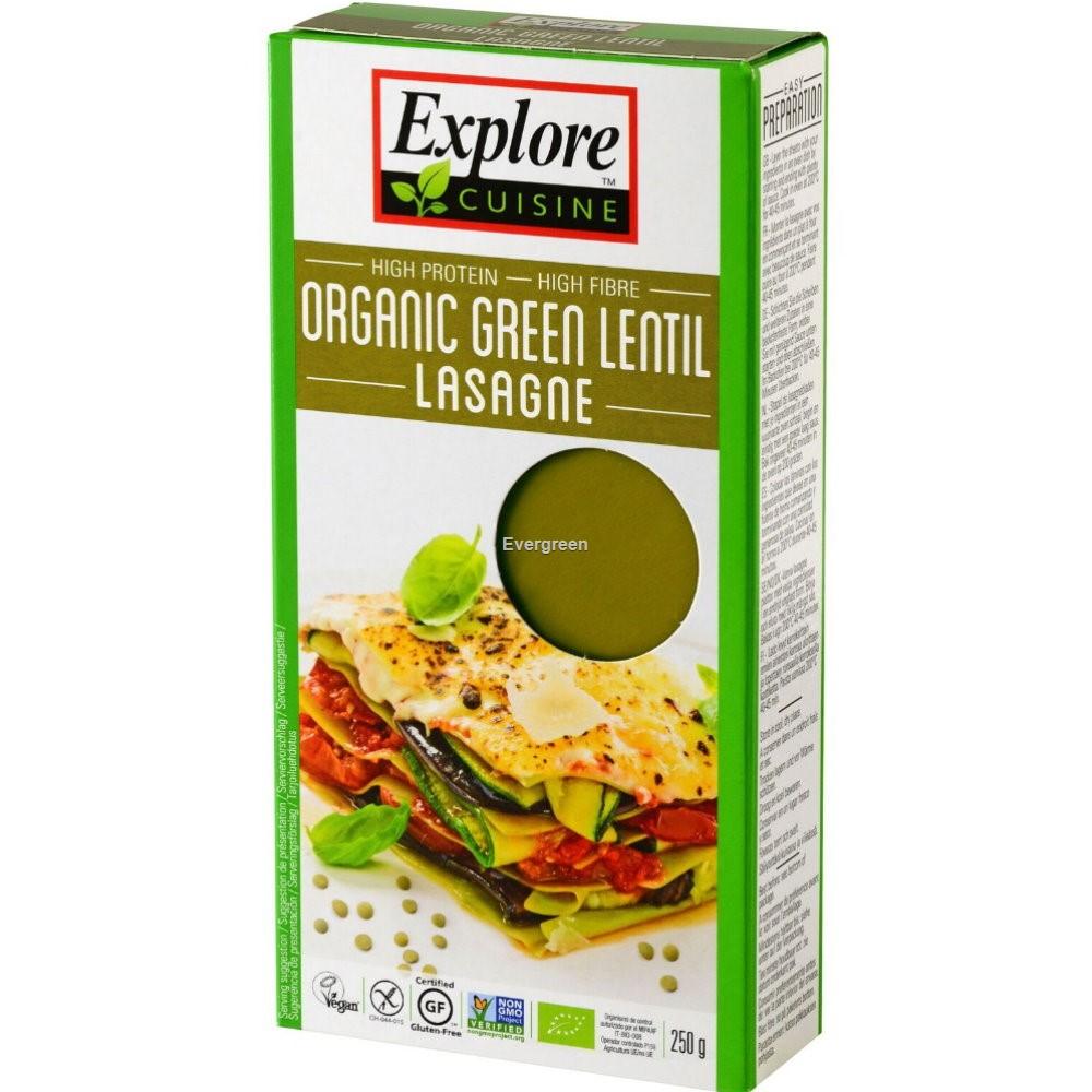 Makaron lasagne z zielonej soczewicy BIO 250g