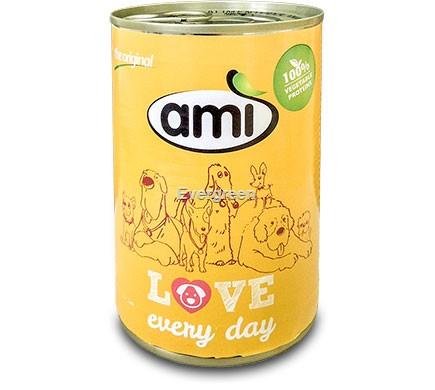 Puszka dla psa AMI 400g żółty
